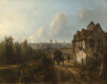 View on Monmartre, Johan Barthold Jongkind