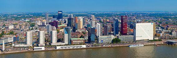 Panorama Boompjes Rotterdam van Anton de Zeeuw
