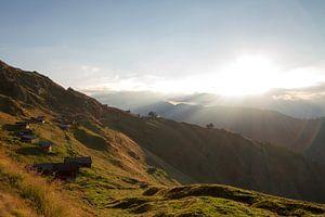 zonsopkomst in Belalp Zwitserland van