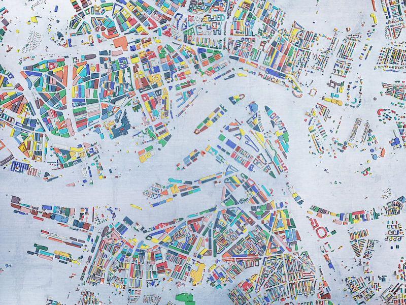 Glaskaart Rotterdam van Frans Blok