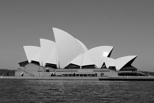 Sydney Opera House - Australië (Zwart Wit) van Maurits Simons Fotografie