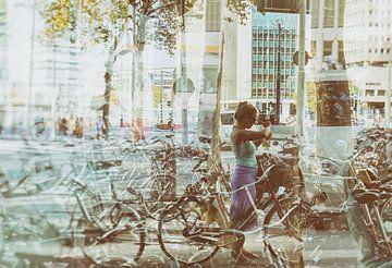 bike double exposure van Karin vanBijleveltFotografie
