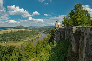 Festung Königstein aan de Elbe,  Lilienstein, Thürmsdorf, Saksen, Duitsland, van Rene van der Meer