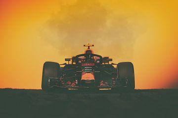 Max Verstappen - F1 Redbull Racing au coucher du soleil sur Kevin Baarda