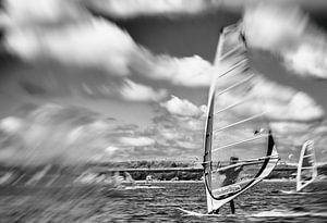 windsurfen op de Grevelingen