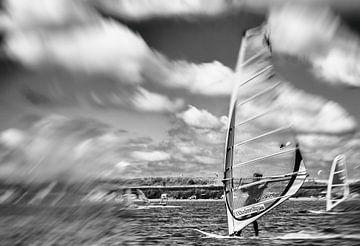 windsurfen op de Grevelingen van Irene Lommers