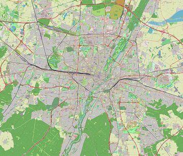 Kaart van Munchen van Atelier Liesjes