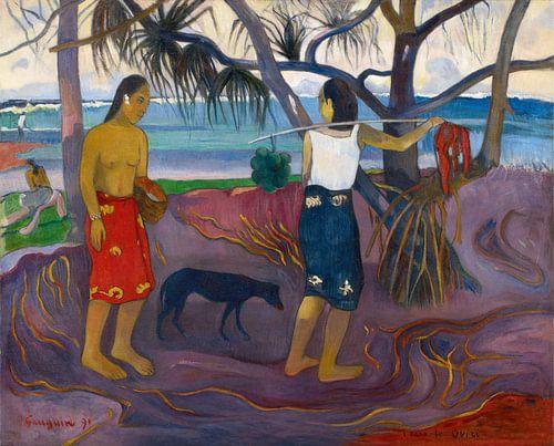 Paul Gauguin. People in Landscape van 1000 Schilderijen
