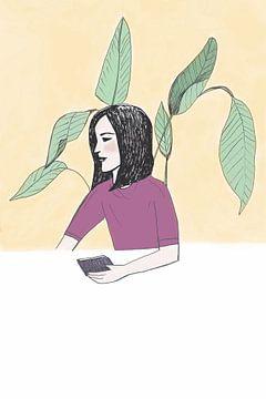 Zen unter einem Blätterdach von Karolina Grenczyk