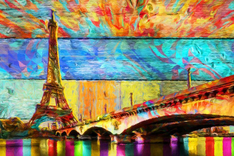 Tour Eiffel Art abstrait sur Marion Tenbergen