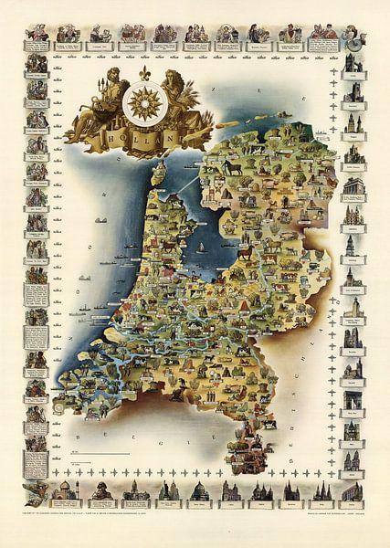 Hollande historique sur World Maps