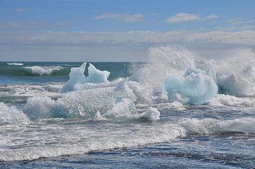 IJsbergen, Iceberg, IJsland, Iceland van Yvonne Balvers