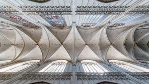 Plafond van een gothisch kerkgebouw van