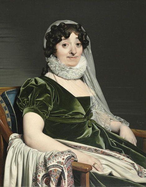 Porträt der Gräfin von Tournon, Jean Auguste Dominique Ingres von Meesterlijcke Meesters