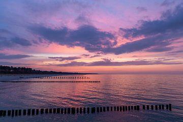 Abendstimmung am Strand von Zingst von Christian Müringer