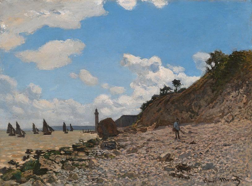 Der Strand von Honfleur, Claude Monet von Meesterlijcke Meesters