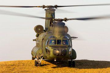Chinook transporthelikopter aan het werk! van Jimmy van Drunen