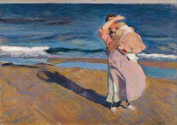 Fisherwoman with her son, Joaquín Sorolla y Bastida sur