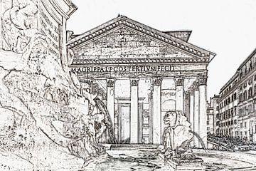 Pantheon in Rome, Italië van Gunter Kirsch
