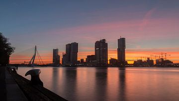 Rotterdam sunset van Bas Ronteltap