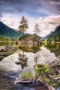 Der Hintersee Bergsee in den Alpen in Bayern in Berchtesgaden von Voss Fine Art Fotografie