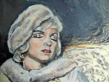 Marilyn Monroe - Unfinished van Lucia Hoogervorst