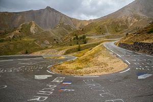 Onderweg op de Col d'Izoard van