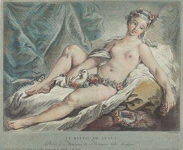 Venus, godin van de liefde, ontwaakt - Louis-Marin Bonnet, 1769 van Atelier Liesjes