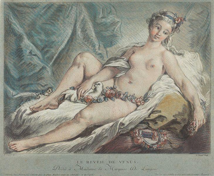 Venus, Göttin der Liebe, erwacht - Louis-Marin Bonnet, 1769 von Atelier Liesjes