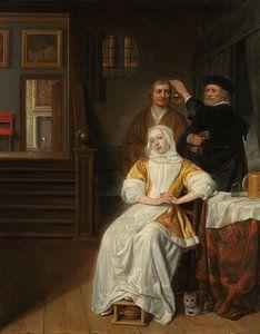 'De bleekzuchtige dame', Samuel van Hoogstraten