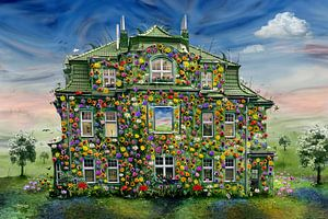 Das Blumenhaus auf dem Lande