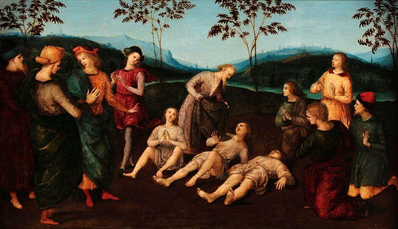 Das Wunder des heiligen Eusebius von Cremona, Rafaël von Meesterlijcke Meesters