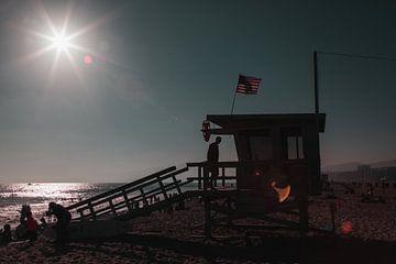 Santa Monica Beach - strandwacht - Los Angeles sur Pleuni van der Pas