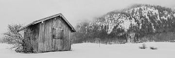 Schuur in de sneeuw von Henri van Avezaath