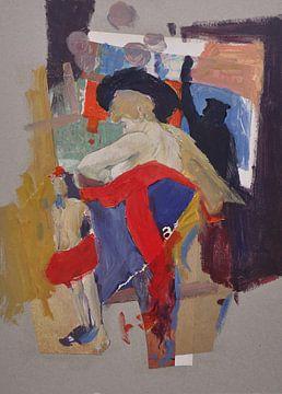 Frau mit Baskenmütze von Nop Briex