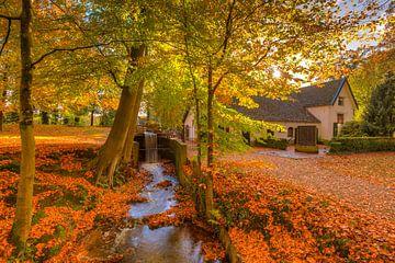 Wassermühle und Bach an einem schönen Herbsttag von Rob Kints