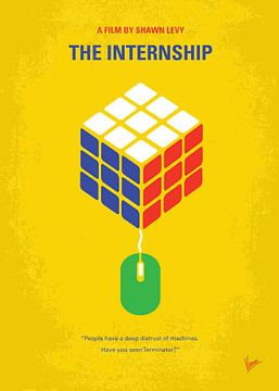 No215 My The Internship minimal movie poster van Chungkong Art