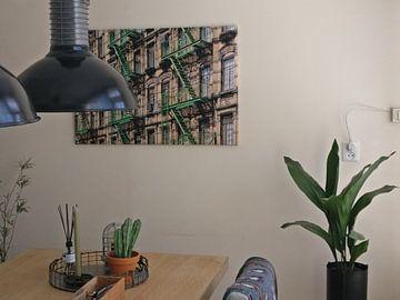 Kundenfoto: Brandtrappen voor New Yorkse wolkenkrabbers