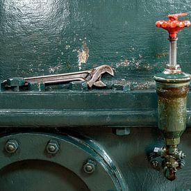 Engelse sleutel met afsluiter van Evert Jan Luchies
