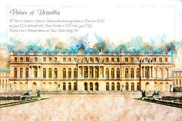 Versailles, Waterverf, Frankrijk van Theodor Decker