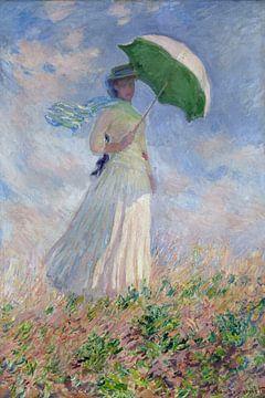Frau mit Sonnenschirm, Claude Monet