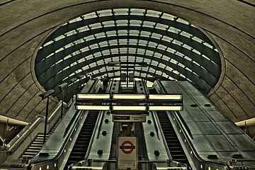 U-Bahn-Station Canary Wharf (unterirdisch) von Jeffrey Steenbergen