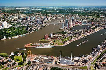 Luftaufnahme des Zentrums von Rotterdam von Frans Lemmens