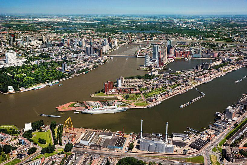 Photo aérienne du centre de Rotterdam sur Frans Lemmens