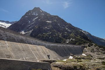 Stuwdam, Gelmersee Zwitserland van Sasja van der Grinten