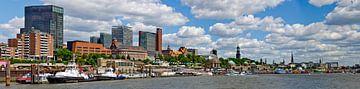 River Elbe at Hamburg van Leopold Brix