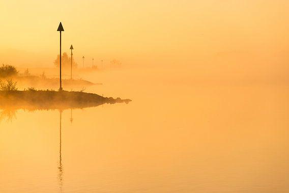 Ochtendlicht aan de IJssel - 3 van Damien Franscoise