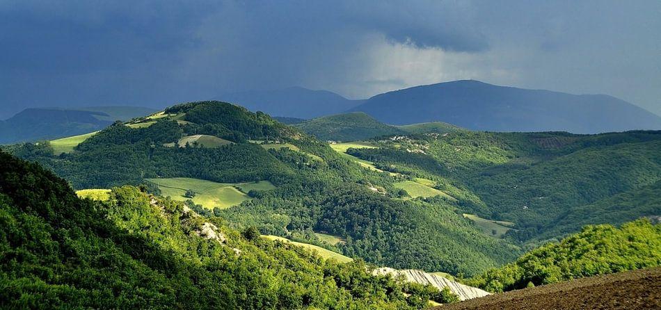 Berg landschap in Italie.