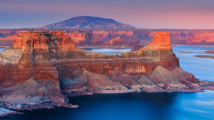 Zonsondergang Alstrom Point, Lake Powell, Utah van Henk Meijer Photography