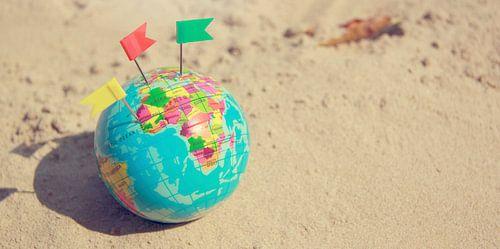 Wereldbol op het Strand van